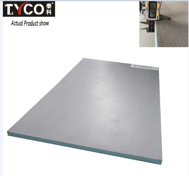Laminated Fiber Cement Board Heat Barrier Extruded Polystyrene Panel Free CFC HCFC