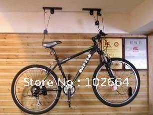 fahrrad hebezeug garagendecke lift riemenscheibe fahrradst nder decke racks h ngen. Black Bedroom Furniture Sets. Home Design Ideas