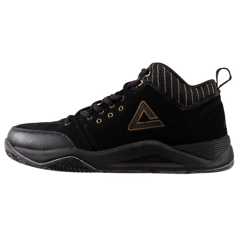 PEAK Wear Resistance Black Suede Leather Outdoor Sports