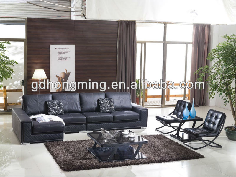 Used living room leather sofa set design furniture designs j698
