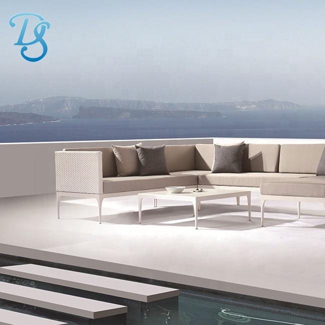 Садовые диваны из ротанга, мебель с алюминиевой рамой, уличная мебель, диваны, наборы диванов с подушкой