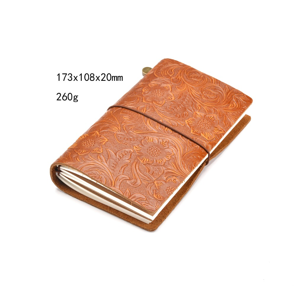 62EC Leather Cover Retro Jotter Notebook Diary Blank Pages Sketchbook Antique