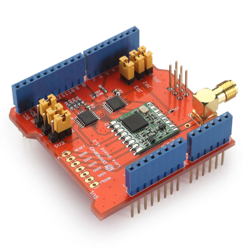 LoRa Shield (Long distance wireless 433/868/915Mhz Lora Shield for Arduino  Leonardo, UNO, Mega2560, Duemilanove, Due)