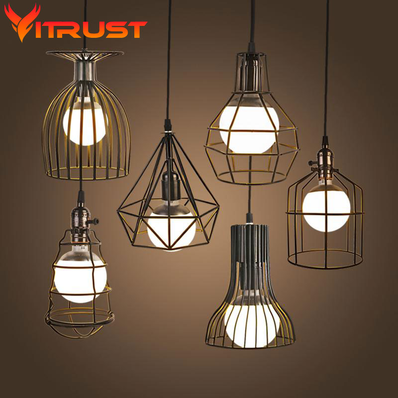 Retro vintage industrial lighting Country Style Hanging ...