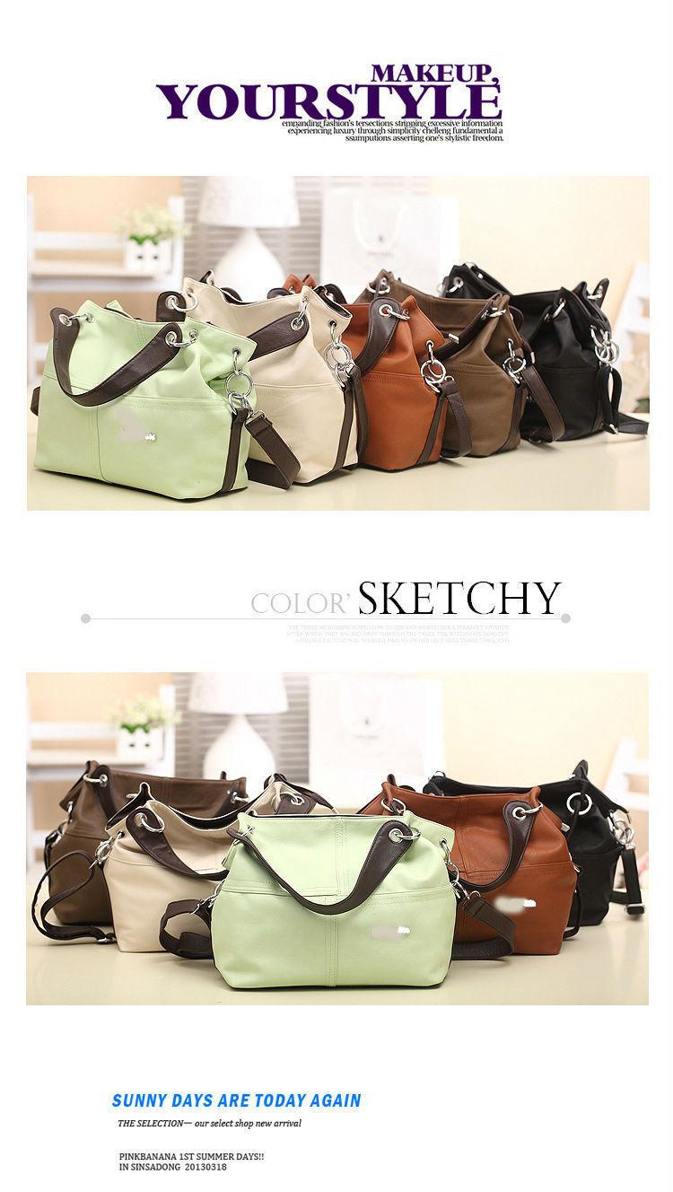 2015 HOT Item Women Handbag PU Leather bags women messenger bag  Splice  grafting Vintage women. Shipping 01e9eeb2b03c7