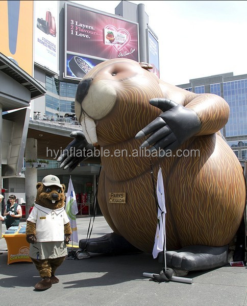 Hot sale large/ giant inflatable beaver for advertising