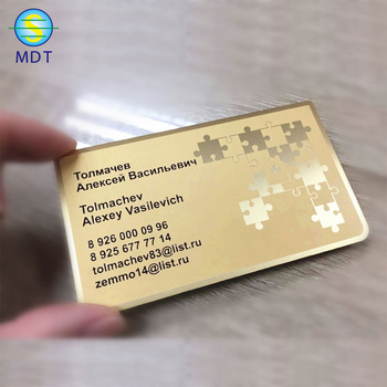 MDT hot sale black metal business cards metal magnetic stripe card with chip