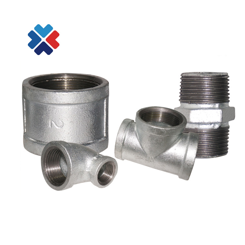 best price manufacturer reducing cross cast iron malleable equal tee white male & female elbow fire fighting pipe fitting