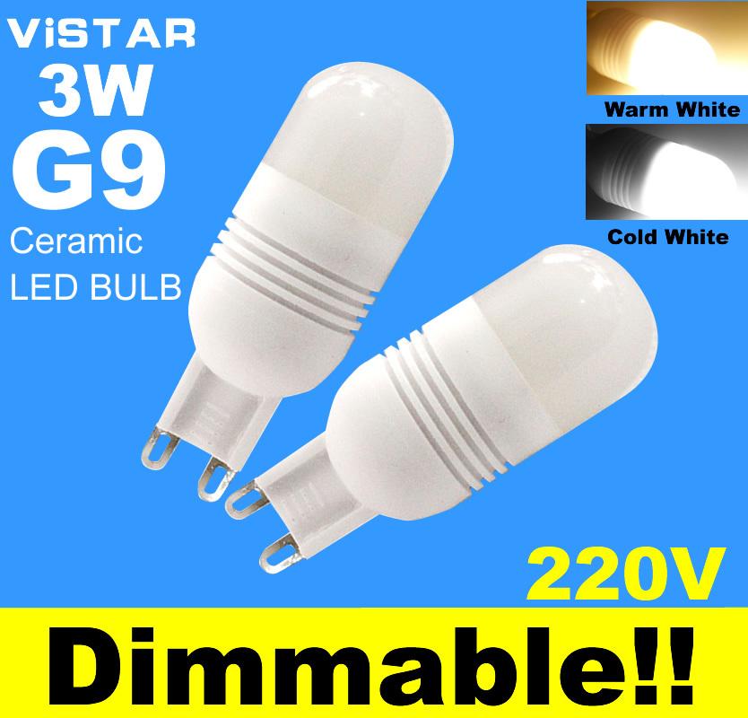 buy g9 led dimmable support dimmer 3w led lamp led light bulbs 220v 230v cold. Black Bedroom Furniture Sets. Home Design Ideas