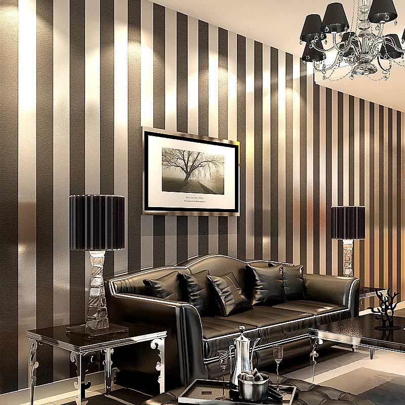 modern black wallpaper striped purple and silver glitter wall paper roll for wall living room. Black Bedroom Furniture Sets. Home Design Ideas