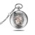 D01473o hot sale wholesale mechanical silver case pocket watch with gold movement and high quality