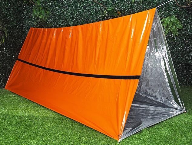 All Weather Survival Shack 2 Person 8' X 5' Mylar Thermal Shelter tube Emergency Tent