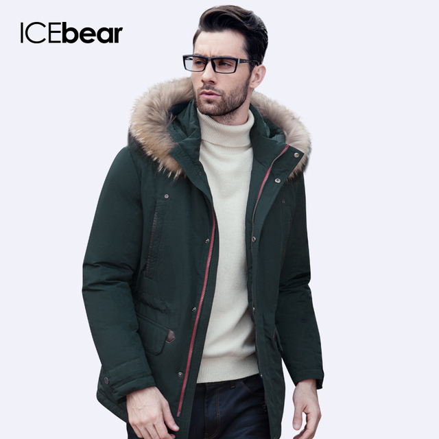 e43ab71d146 ICEbear 2016 Высокое Качество Зимняя Куртка Мужчины Сгущает Пальто Известный  Хлопка Мягкой Моды Парки Бизнес Плюс