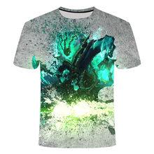 Футболка с 3D принтом Game League of Legends, футболка yasuo zed leesin, повседневные шорты, футболка с коротким рукавом, летняя уличная одежда 6XL(Китай)