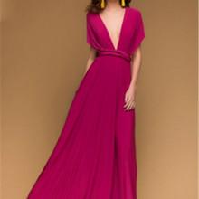 c68806579f Nueva Luz Azul convertible dama de honor vestidos plisado longitud del piso  país huésped de la boda de playa vestidos de fiesta .