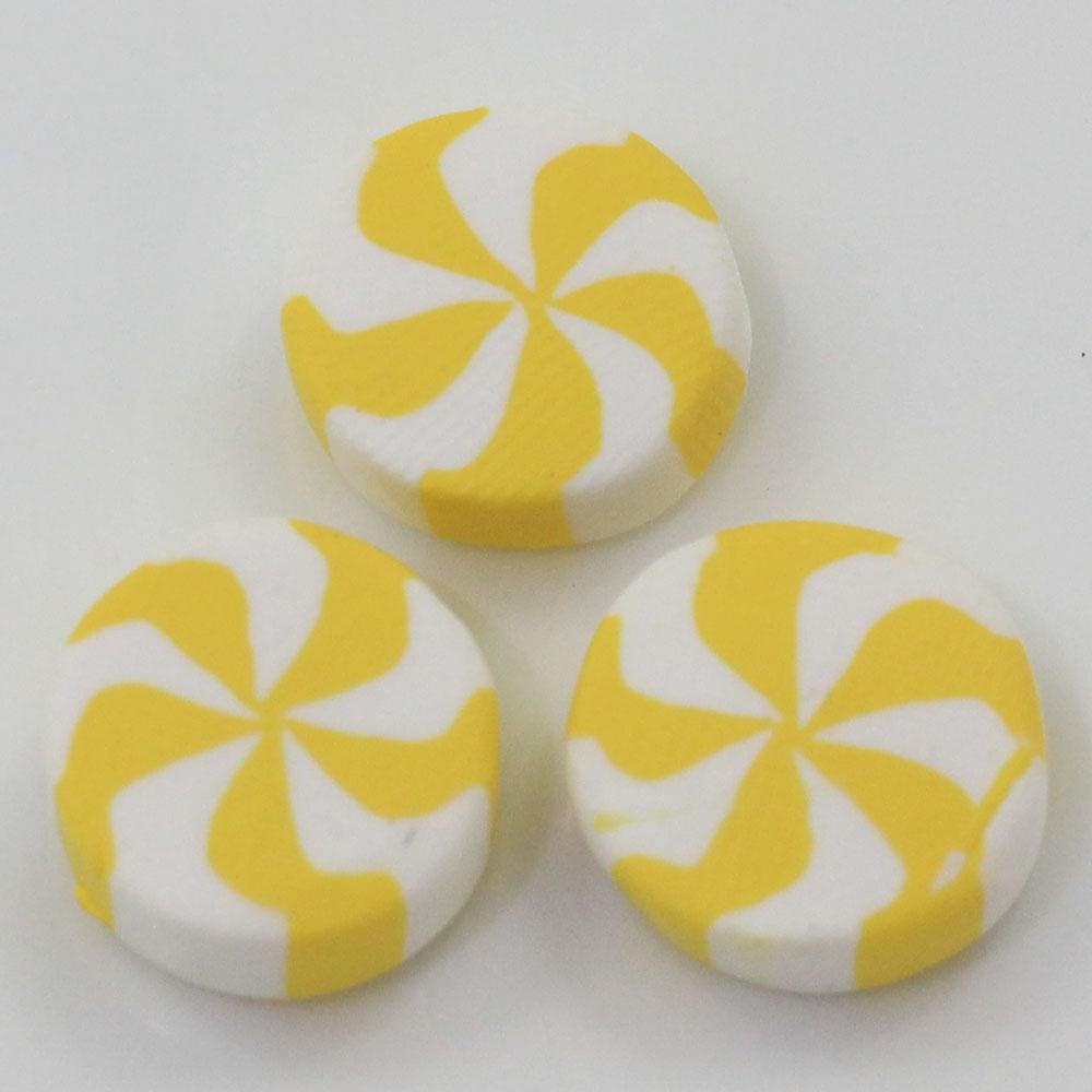 Новейшие бусины дизайн 12 мм Полимерная глина маленький мятный звездный свет мятные конфеты кабошоны ремесло рождественские принадлежности
