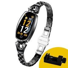 Модные Смарт-часы MNWT H8, женские цифровые часы 2020, водонепроницаемые часы с пульсометром и Bluetooth для Android и IOS(China)