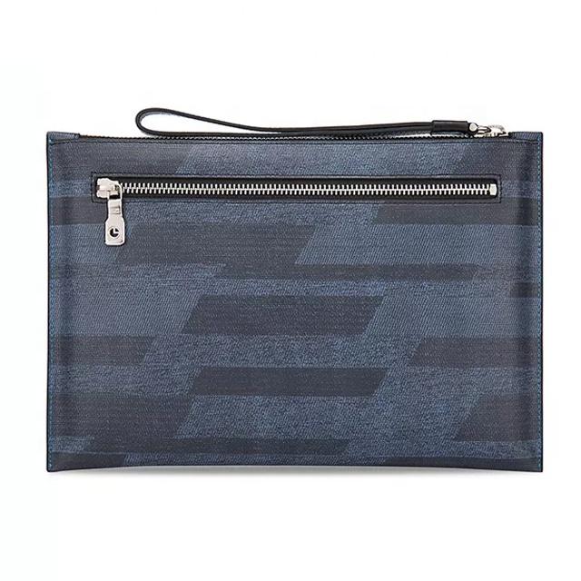 Стильная Кожаная сумка-кошелек с индивидуальным логотипом, деловая сумка-клатч с ремешком на запястье