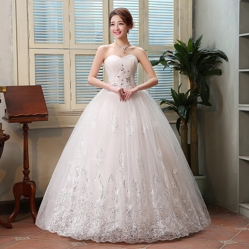 Korean Celebrity Wedding Photos: 2016 New Wedding Dress Korean Style Sweet Princess Wedding