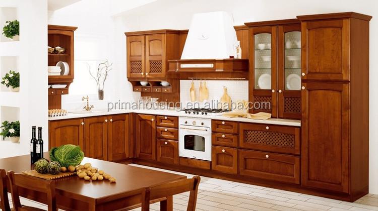 madera de teca mueble cocina mueble cocina puertas de vidrio