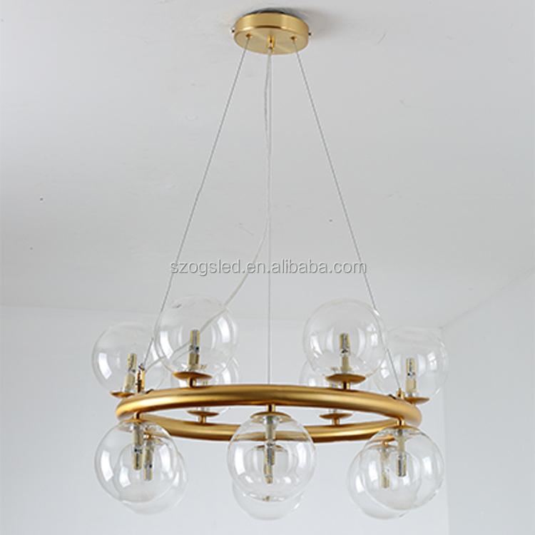 Скандинавский подвесной светильник, стеклянная Подвесная лампа E27, современный подвесной светильник