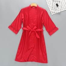 Женское кимоно из вискозы, белый халат для невесты и подружки невесты с кружевной отделкой, повседневная домашняя одежда для сна(Китай)