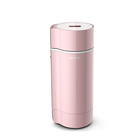 Pink Fashion Automatic Milk Maker Soymilk Maker Stainless Steel Soy Bean Milk Making Machines D117*280mm Household 1.46KG CN;GUA