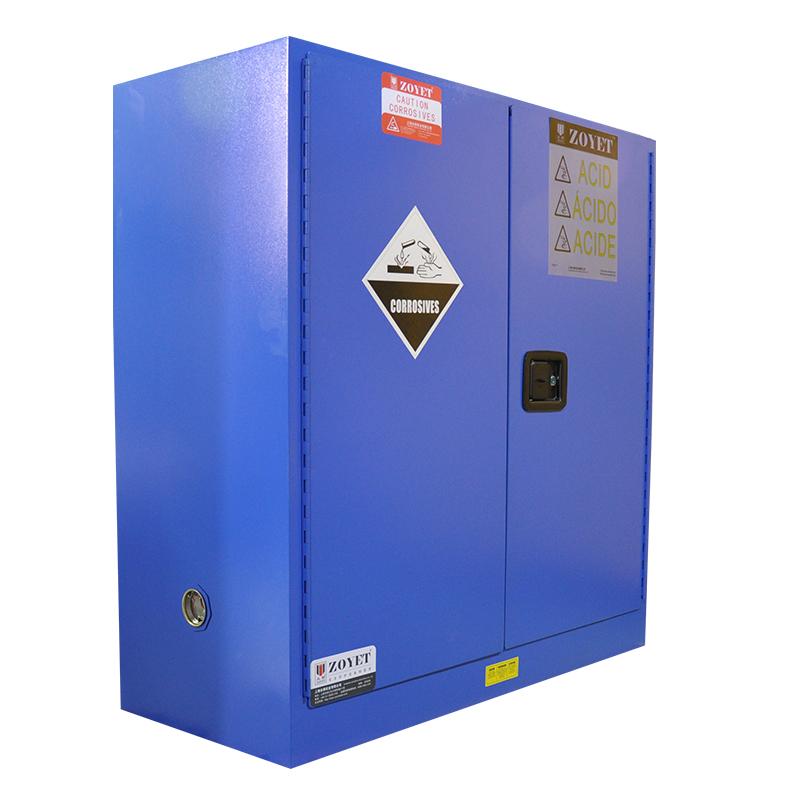ZOYET 45 gallon Blue safety Storage Cabinet for Acid & Corrosive chemical