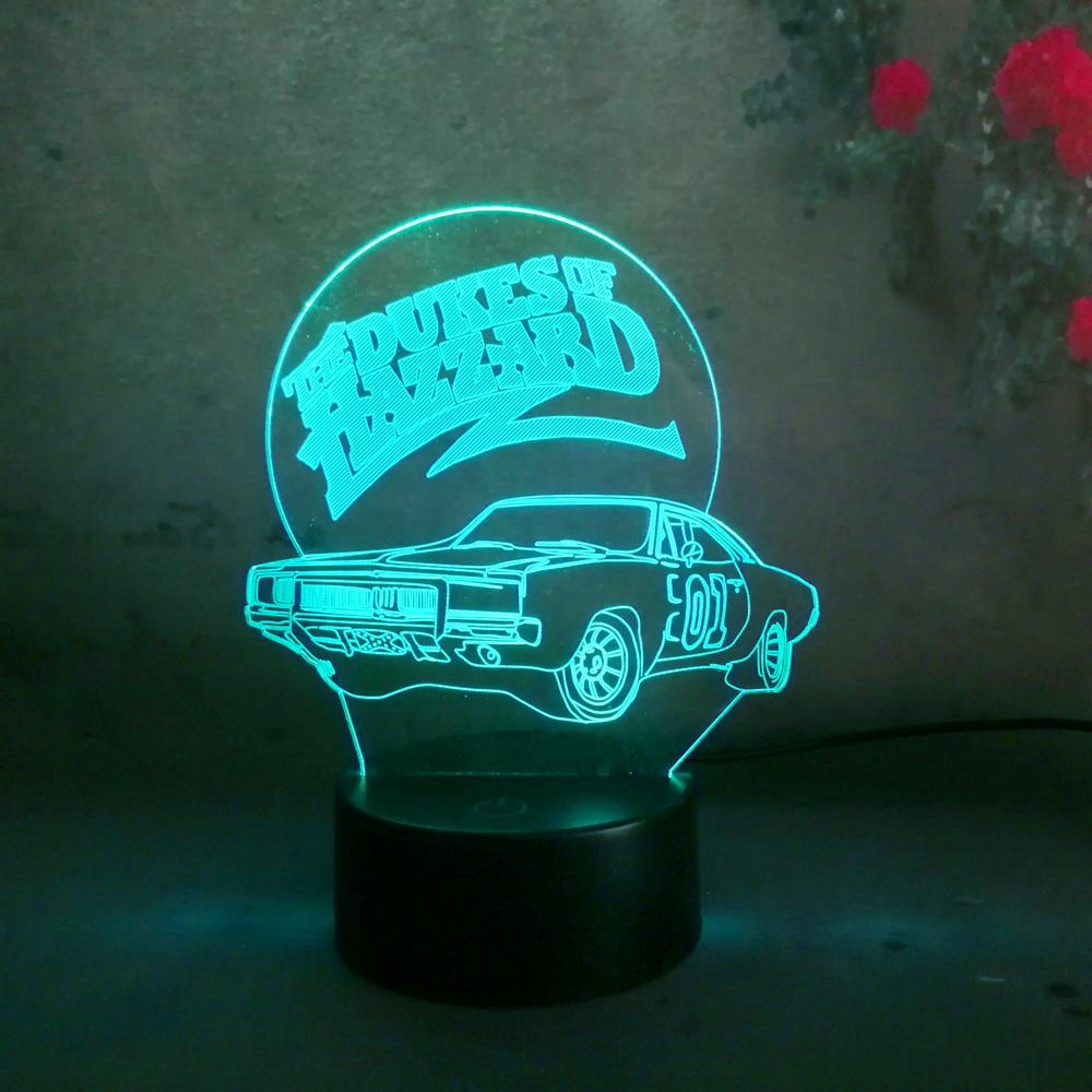 Hot 3d Led Hazzard Car Night Light Table Desk Lamp Lamparas Lava Usb Touch Lamp Bedroom Home Party Decor Illusion Lava Light Buy Night Light For Children Christmas Gift Toy Led