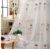 white voile curtain sheer fabric in 100% polyester fabric 2018 hostile design
