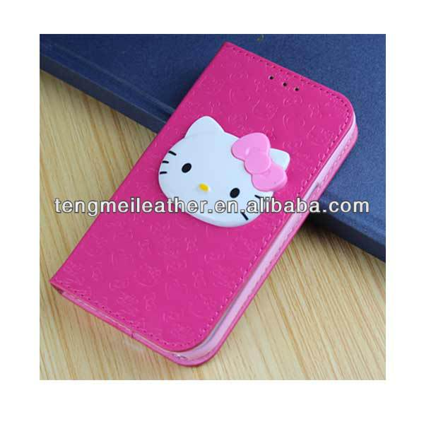Leather Hello Kitty Wallet Cover Case For Samsung Galaxy S4,Flip Cover Grand Case For Samsung Galaxy S4 - Buy Flip Cover Grand Case For Samsung Galaxy ...