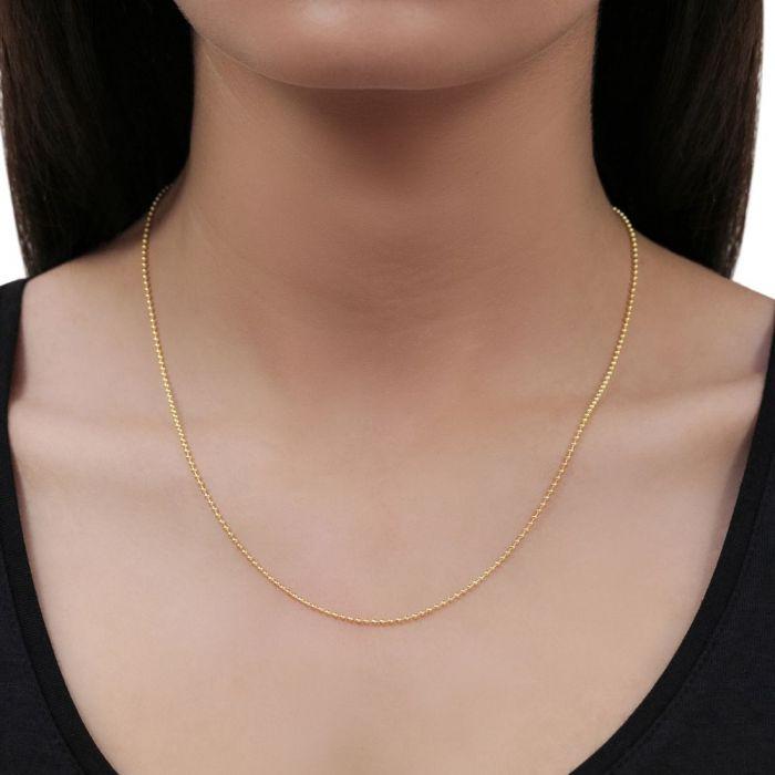 Кольцо из нержавеющей стали с высоким полированным 1,5 мм драгоценный камень резит мяч жемчужное ожерелье из бисера с покрытием из розового золота Цепочка Ожерелье