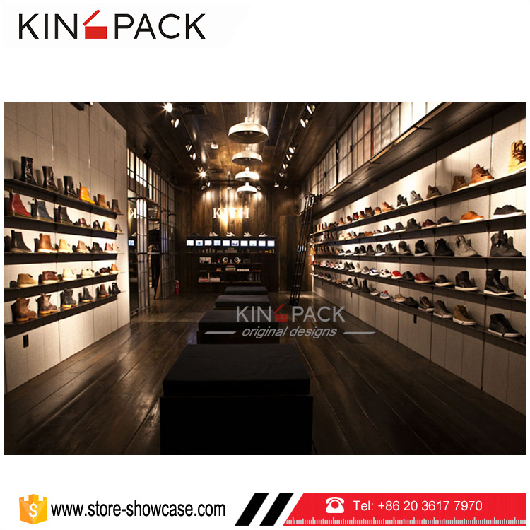Custom Wooden Jordan Shoe Rack For Sale Shoe Store Display Stand ...