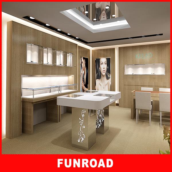 Funroad Modern Jewellery Showroom Interior Ceiling Designs ...