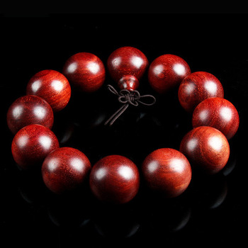 POYA Jewelry African Blood Wingceltis Wood bead Men and Women Red Wood Beaded Bracelet