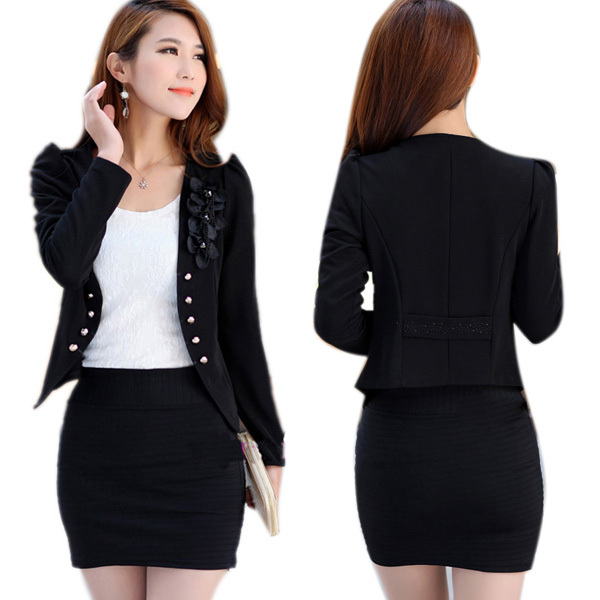 Office wear pencil skirt with office coat collection for business women 201920