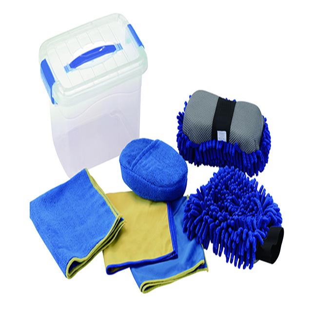 Elastic Band Microfiber Sponge 3Pack Microfiber Washing Towel Car Care Kits Washing Sets