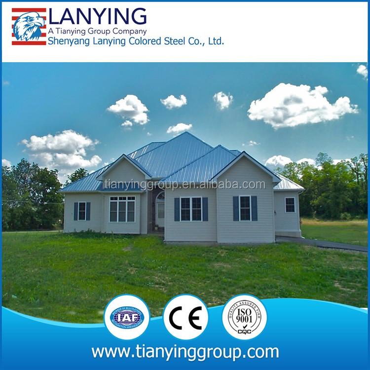 Decorative steel structure duplex prefabricated villa