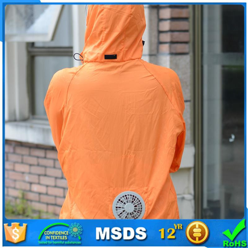 Fan cooling sun-protective clothing for summer