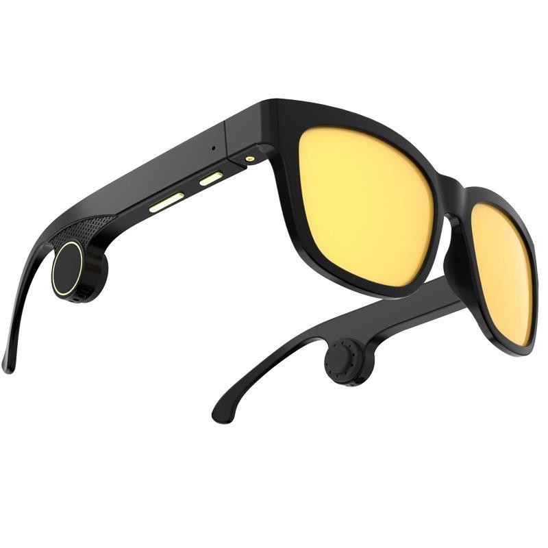 Summer Hot Sale Audio Headphone UV400 Polarized lens Sunglasses Smart Music Glasses Bone Conduction - idealBuds Earphone | idealBuds.net