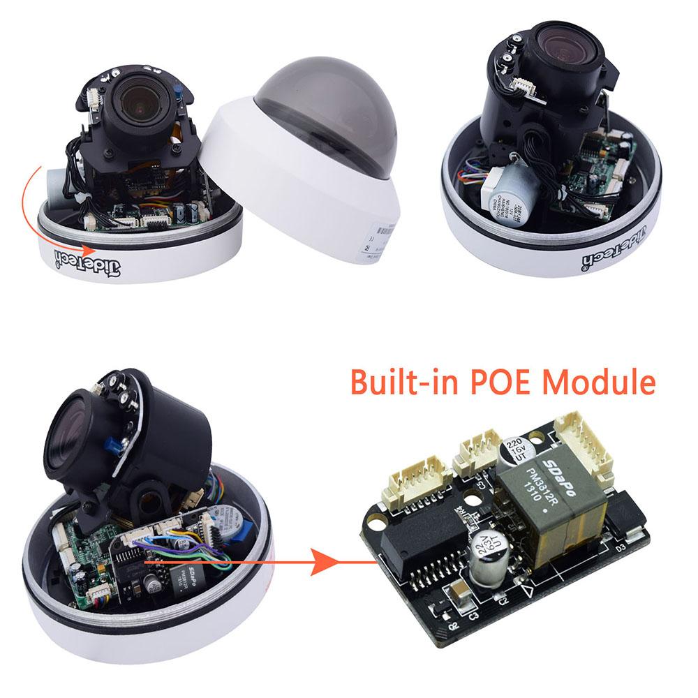 JideTech 4-кратный зум 1080P PTZ-камера водонепроницаемая H.265 POE мини-камера безопасности наружная IP-камера