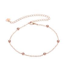 Простой шарик-амулет, цепочка для ног, бохо, ножной браслет для женщин, для девушек, из сплава розового золота, модная Ювелирная цепочка(Китай)
