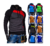 Fashion Colorful Men's Long Sleeve Hoodie Fashion Splicing Sweater