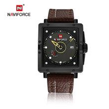 NAVIFORCE мужские спортивные часы, мужские кварцевые часы с датой, кожаный ремешок, военные армейские водонепроницаемые наручные часы, мужские ...(Китай)