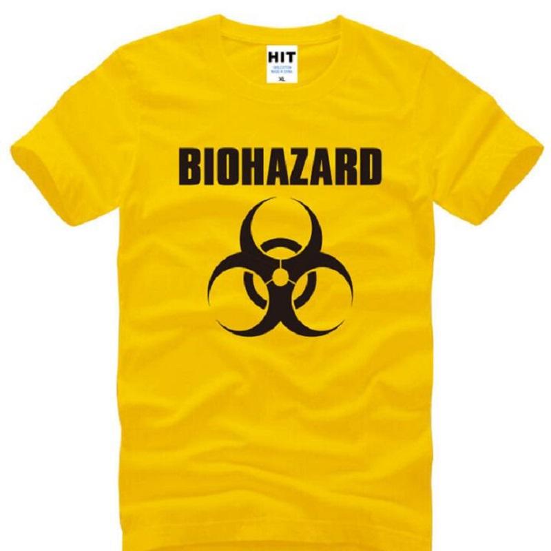 d6943ccee29fa BIOHAZARD Logo Printed T Shirt Men Summer Style Resident Evil T Shirt Short  Sleeve Cotton O-Neck T-shirt Men Tops Camisetas Homb
