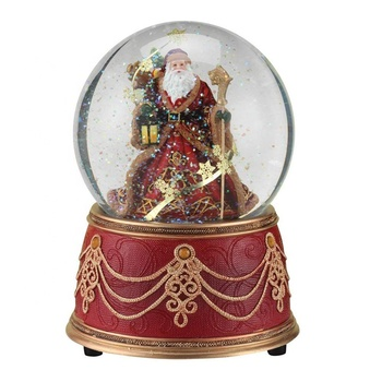Santa with Snowflakes Musical Christmas 100mm Snow Globe