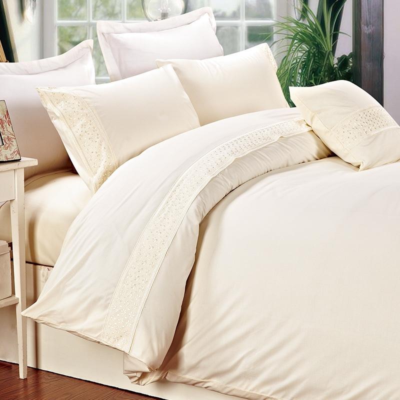 Комплект постельного белья из микрофибры, 4 шт., Комплект постельного белья с вышивкой