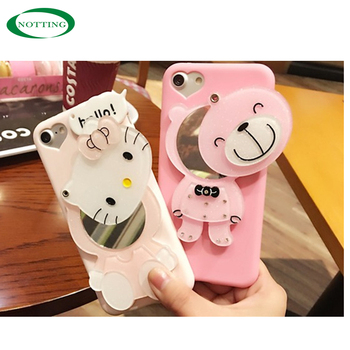 2019 popular best selling customized bear hello kitty mirror phone case for iphone