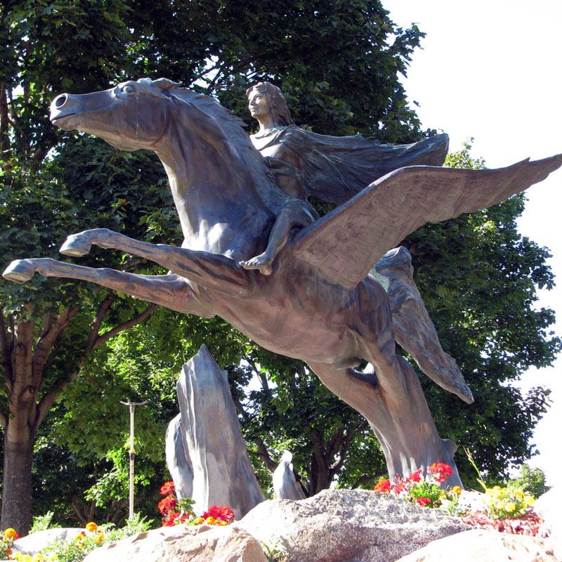 Pegasus Angel Statues