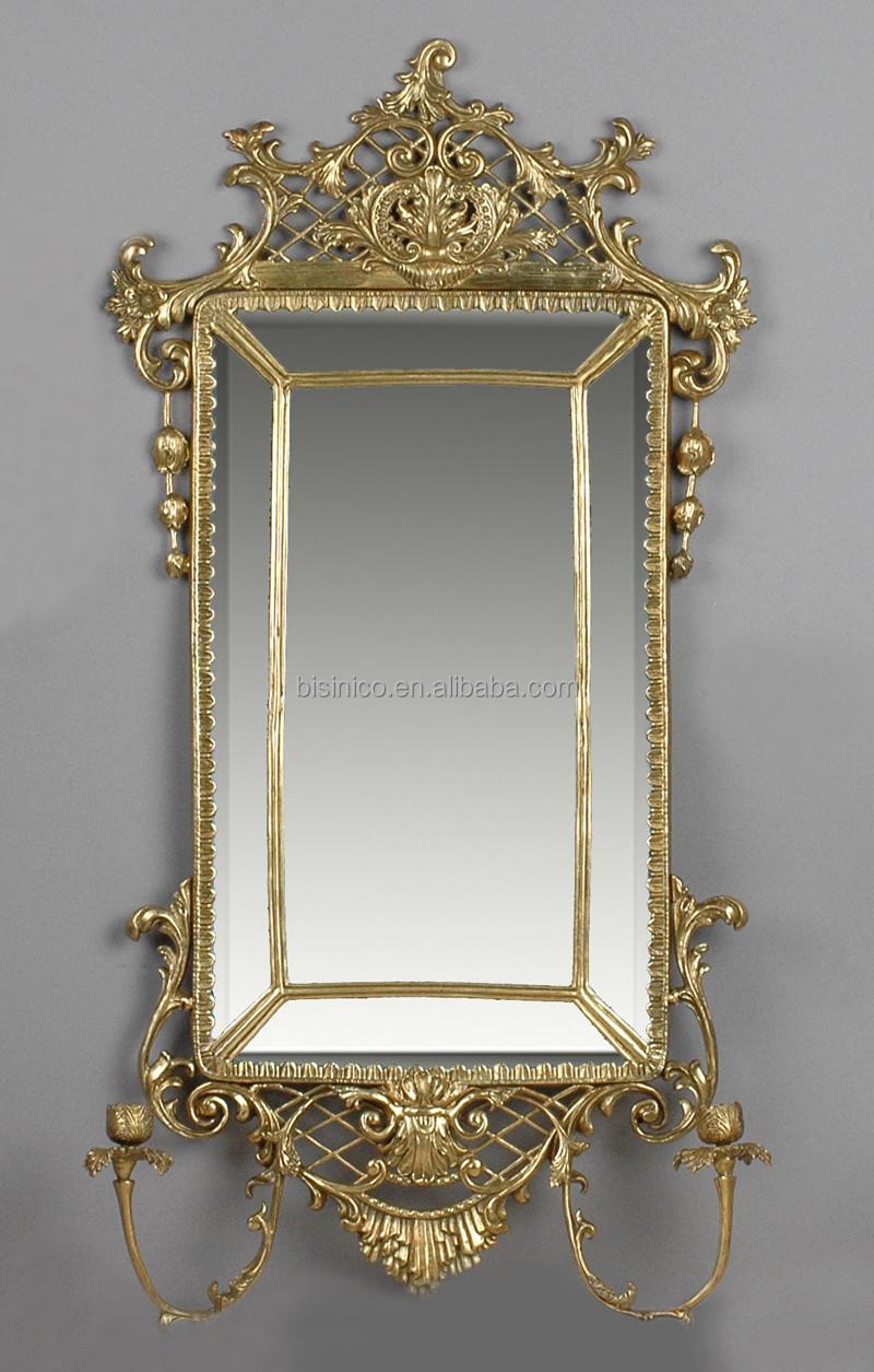 Luxury Casting Bronze Art Wall Mounted Mirror,Unique ...